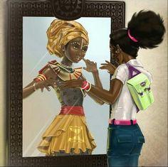 Self perception, little black girl and natural hair
