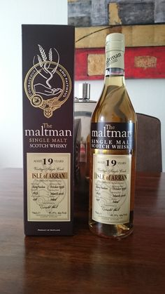My trip to Scotland is coming up and i promised not to buy any whisky before that trip. But of course i failed… A very good priced Arran 19 yo from The Maltman. Certainly quite enjoyable.