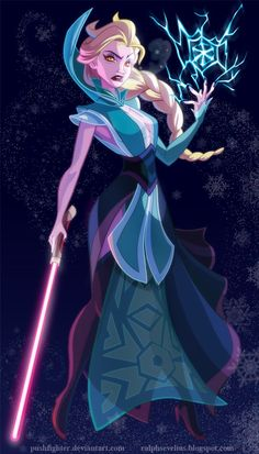 I loved Elsa's design the minute I saw her in trailers and I knew she had to be Sith, but I didn't want to make a repeat Sith Snow White(pos...