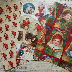 Victorian Christmas gift wrap papers now in the shop.