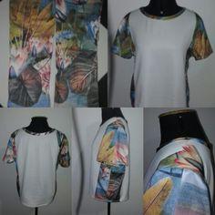 Transformando barra de calças em blusa. Reciclagem de Roupas
