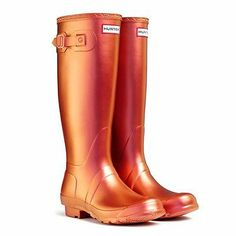 Hunter Original Pearlescent Wellington Boots, Pearl Orange UK 7 Eu40/41 Wellies | eBay