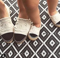 Chanel flats for mom and daughter