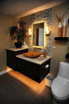 Bathroom Mirror Lights – Makes Your Bathroom Stylish! Bathroom Design Luxury, Modern Bathroom Design, Interior Design Kitchen, Modern Bathrooms, Small Bathrooms, Zen Bathroom Decor, Washroom Design, Modern Luxury Bedroom, Simple Bedroom Design