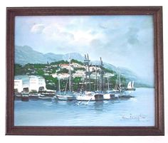 Vintage Original Oil Painting Framed Signed by therecyclingethic