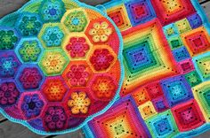African Flower and Babette cushions by rettgrayson, via Flickr