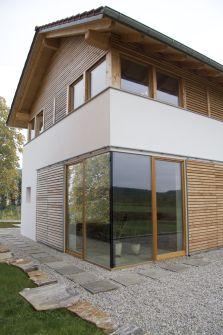 Modernes Bauernhaus ansicht nord ost modernes bauernhaus in ländlicher umgebung