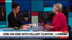 """Hillary Clinton - One-On-One Interview w/ Rachel Maddow  September 2017 on the release of her book """"What Happened"""""""
