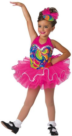 Hologram swirl and flo-cerise lycra shortie unitard. Separate flo-cerise tricot tutu AND fringe skirt. Tricot bow and hat with tricot bow included Dance Picture Poses, Pic Pose, Dance Pictures, Dance Costumes Tap, Ballerina Costume, Dance Recital, Fringe Skirt, Costume Collection, Tiny Dancer
