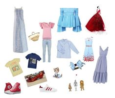 """""""Dorothy Style"""" by alessandro-campa on Polyvore featuring moda, Courrèges, SEMICOUTURE, Only & Sons, Caroline Constas, Vichy, Micaela Spadoni, Converse, adidas Originals e George"""