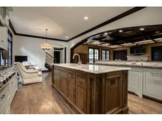 Gorgeous kitchen with keeping room