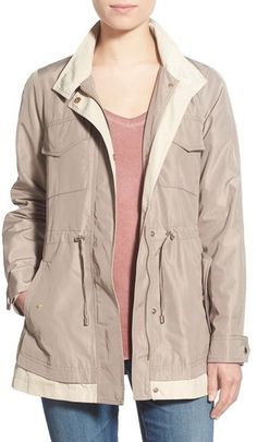 French Connection Two-Tone Hooded Anorak