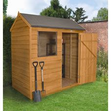 reverse apex overlap wooden shed with assembly service bq for all your home and garden supplies and advice on all the latest diy trends