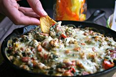 Sausage, Spinach and Bean Dip