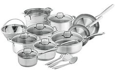 Chefs Star Professional Grade Stainless Steel 17 Piece Pots  Pans Set  Induction Ready Cookware Set with Impactbonded Technology * Want to know more, click on the image.  This link participates in Amazon Service LLC Associates Program, a program designed to let participant earn advertising fees by advertising and linking to Amazon.com.
