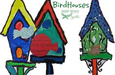 http://www.deepspacesparkle.com/2009/09/11/birdhouse-and-paper-bird-art-lesson/