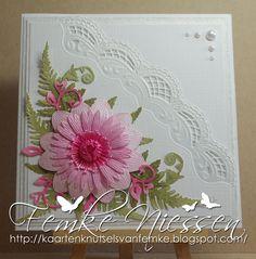 kaartenknutsels van femke: Bookmark and a waterlily card.