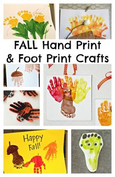 Fall Hand Print Craft Ideas....by Laura Beth...Here are lots of hand and foot print ideas to carry you through the rest of Fall!