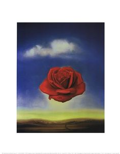 Meditative Rose, c.1958 Art Print by Salvador Dali