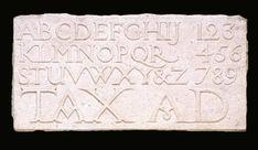 Eric Gill, 'Alphabet and Numerals' 1909