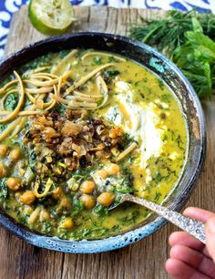 Now that it's officially autumn, I think it's appropriate to start talking about soups and stews. I love soup (and stews) and could eat it any time of year. I find that a big pot of sou… Soup Recipes, Cooking Recipes, Healthy Recipes, Dessert Recipes, Dessert Food, French Lentils, Dry Chickpeas, Iranian Food, Iranian Cuisine