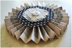 Thrift My House: Phone Book Paper Garland and A Pallet Rack Update House Phone, Paper Pinwheels, Phone Books, Artsy Fartsy, Thrift, Paper Flowers, Pallet, Garland, Diy