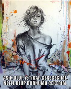 sözler, tarih, moda, teknik bilgi, otomotiv, dekorasyon, sanat, müzik, video: on adet tumblr anlamlı sözler resimli Street Art Banksy, Drawn Art, Cecile, Street Artists, Figurative Art, Female Art, Art Images, Creative Art, Art Drawings