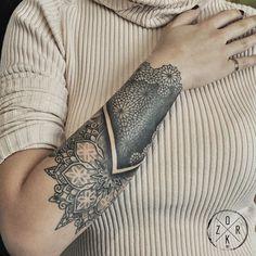 Black Ornament Tat by Denizhan Ozkr - http://www.tattooideas1.org/placement/forearm/black-ornament-tat-by-denizhan-ozkr/