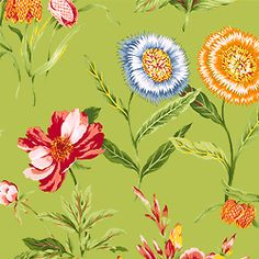 Bold Green #Thibaut!  Edgartown Fabric in Apple Green from the Gatehouse Collection  #fabric #cottonsateen