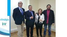 Dr. Sixto Alcoba, Dr. Beltrán y Javier con Encarnita Sarria.