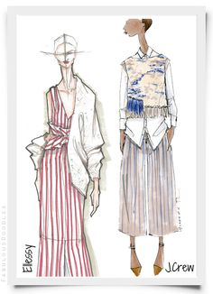Fabulous Doodles NYFW Designer Sketches Spring 2015 (Part 1). Ellessy and JCrew