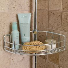 Extra Basket Accessory For Tension-Mount Shower Butler -