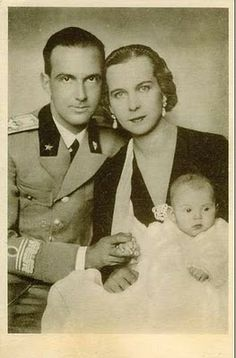 King Umberto II and Queen Marie Jose of Italy with  Princess Maria Pia.  They were not happy and eventually separated.  Little Maria Pia grew up to marry Prince Alexander of Yugoslavia with whom she had two sets of twins.