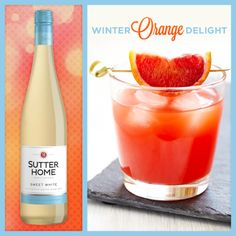 Low calorie wine cocktail: Half a glass of Sutter Home Sweet White, add a splash of sparkling water and the juice of one blood orange. Delightful!