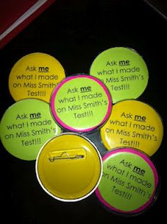 """My """"celebrating success"""" buttons!"""