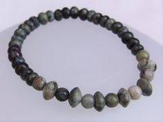 Mens Jade Round and Saucer Bead Bracelet Mens Jewellery
