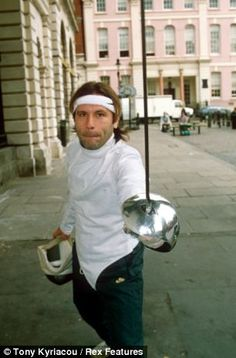 Multi-talented: Dickinson is also a highly ranked foil fencer and was once asked to join the British Olympic Team