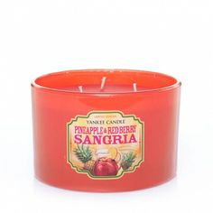 Pineapple & Red Berry Sangria : Fiesta Tumbler Candle : Yankee Candle : Every day is a fiesta with the mix of ripe raspberries and vibrant pineapple in this playful punch. Candle Jars, Candle Holders, Berry Sangria, Yankee Candles, Home Scents, Bath And Bodyworks, Candels, Reunions, Smell Good