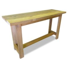 Industrial Recycled Natural Wood Timber High Bench by GHIFY