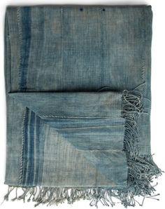indigo dyed shawl