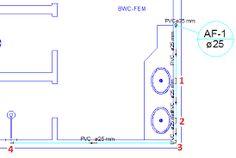 Resultado de imagem para planta baixa hidraulica banheiro