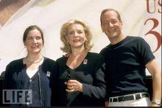 Leslie, Lauren, & Stephen Bogart at dedication of Humphrey Bogart stamp ceremony.