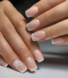 100 winter nail designs 2018 nails and manicure styles Nail Art Designs, French Nail Designs, Winter Nail Designs, Winter Nail Art, Winter Nails, Chic Nail Art, Gel Nail Art, Nail Polish, Cute Nails