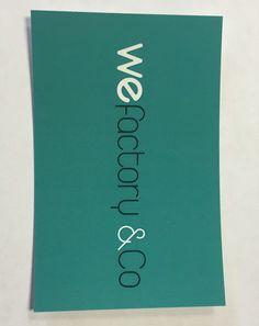 Recto de la carte de visite de l'agence #agence #communication #cartedevisite #design