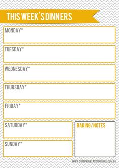 meal planner printable - MyHomeLookBook