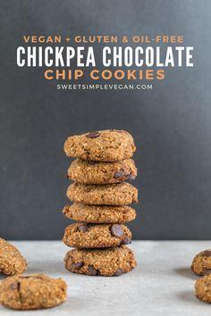 Chickpea Chocolate Chip Cookies {gluten & oil-free} Sweet Simple Vegan