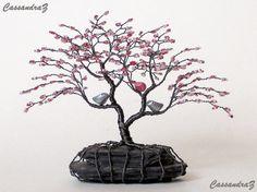 Asimétrica del flor de cereza con cuentas Bonsai por CassandraZ