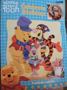 Items similar to Disneys Winnie the Pooh Celebrate the Holidays in Plastic Canvas Leisure Arts Booklet # 1883 on Etsy Christmas Carol, Christmas Photos, Valentine Day Photo Frame, Disney Candy, Candy Cane Ornament, Autumn Wreaths, Needlepoint Patterns, Disney Winnie The Pooh, Tissue Box Covers