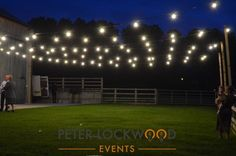 light your way with festoon lights fitted to a barn #festoonlighting