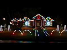 Dubstep Christmas Light Show .. 2014 Johnson Family | 'REAL FLASH' ~ Mobs come to See !!!